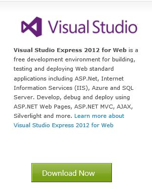 Visual Studio Express for Web