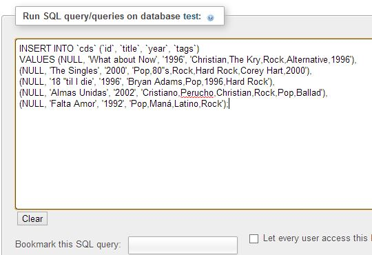 Inserting Information MySQL